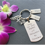 Personalised Keyring for Mum - Grandmother Gift - Hand Stamped Keyring