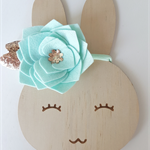"""""""A Posy for Peyton"""" large felt flower & nylon headband in ice mint and champagne"""
