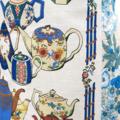 Metro Retro TEAPOTS KITCHEN Vintage Tea Towel HANDMADE Apron Christmas