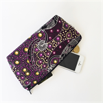 Aboriginal Dancing Spirit purple print makeup bag (small)