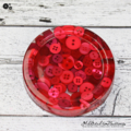 Coasters - Red Buttons Drink coffee coaster or paperweight - SINGLE - Resin