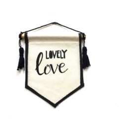SALE Lovely Love Nursery typography wall hanging banner nursery decoration