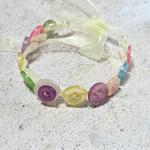 Pretty Button Bracelet in Bright Pastel colours