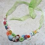 Pretty Button Necklace in Pastel Colours
