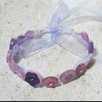 Pretty Button Bracelet in  Pastel in Purples