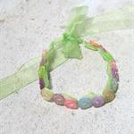 Pretty Button Bracelet in Pastel colours