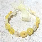 Pretty Button Bracelet in Yellow