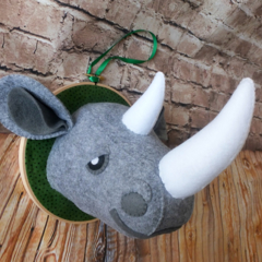 Rhino Faux Taxidermy Head, Kids room, Nursery Décor, Custom Made