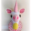 Unicorn Faux Taxidermy Head, Kids room, Baby room, Nursery Décor, Custom Made
