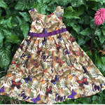 Special occasion girls dress, butterfly fabric, to fit 3-4 year old, size 4