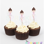 Cupcake Toppers ~ ballerina ~ set 12