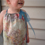 Pillowcase toddler dress, silk chiffon, special occasion, size 3
