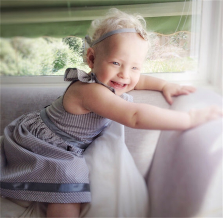 Flutter sleeve dress, fit 2-3 year old, party dress, grey & white check poplin