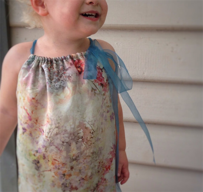 Pillowcase Toddler Dress, Silk Chiffon, Special Occasion