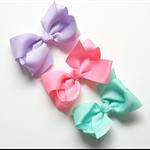 Boutique Bow Trio - Purple, Aqua and Pink