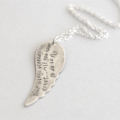 Wing Necklace, Hand Stamped Wing, Inspiration Necklace, Gift For Daughter