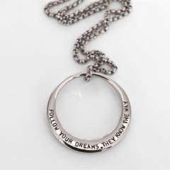 18th, 21st Birthday Gift, Graduation Gift, Dreams Necklace, Quote Jewellery