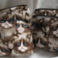Cotton Grumpy Cat Purse