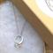 Diamond ring charm necklace