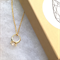 Bling ring charm necklace