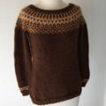 Fairisle Yoked Icelandic Woollen Jumper women's size medium 12-14