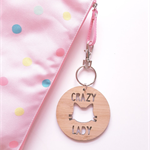 Crazy Cat Lady Key Ring / bag tag