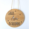 Shhh Baby is Sleeping Personalised Wooden Bamboo Door / Wall hanging