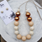 Marbleous Jewellery Set - Ecru/Marble/Copper