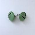 Burst of Colour Mint Green Streaky Fused Glass Earrings