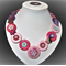 Beaut Buttons - Strawberry fields button necklace