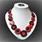 Beaut Buttons - Red and Black button necklace