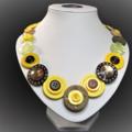 Beaut Buttons - Hawthorn Haze button necklace