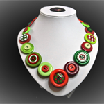 Beaut Buttons - Love Christmas button necklace