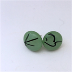 Burst of Colour Mint Green Streaky Fused Glass Earrings