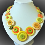 Busy Bees button necklace