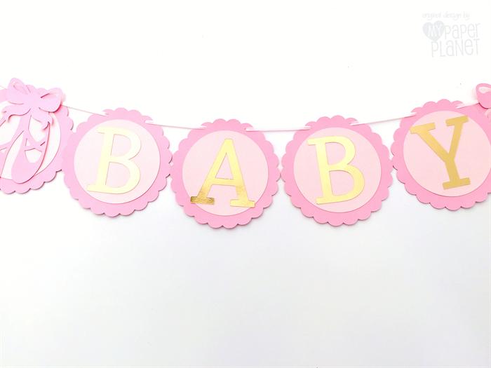 pink gold ballet shoe baby girl banner ballerina birthday party