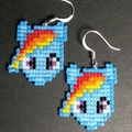 My Little Pony Beaded Earrings
