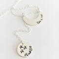Moon Stars Necklace, Gift For Her, Luna Moon Jewellery, Inspiration Necklace