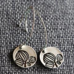 Lotus Bud Design~  Drop Earrings