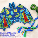 Fabric Dragon Wings & Dancing Ribbons - Custom Designed