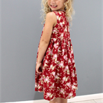 Girls Dress, 1950s Retro Vintage, Floral, Size 5, Custom Design Available