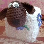 Fun, Funky Tissue Box Cosy BAA-tholomew Sheep Wool/Alpaca Yarn