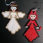 Devil and Angel Beaded Earrings