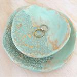 Ceramic nesting bowls. Ring dish, jewellery bowl, soap dish.