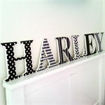 Wooden 17cm Wall or Door Letters. 6 Letters.