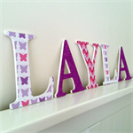 Wooden 12cm Wall or Door Letters. 5 letters.