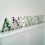 Wooden 12cm Wall or Door Letters. 7 letters.