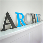 Wooden 12cm Wall or Door Letters. 6 letters.