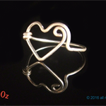 Heart ring, bridesmaid's gift, promise ring or valentine's gift by BijouterieOz.