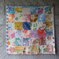 Upcycled Vintage Sheet Patchwork Quilt